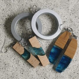 Uhani wood&epoxy